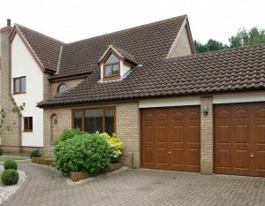 Brown new garage doors Chippenham